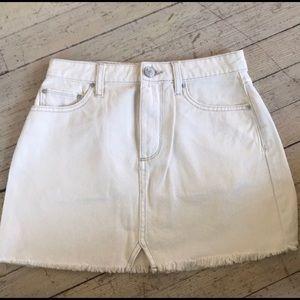 BDG Off White Denim Skirt